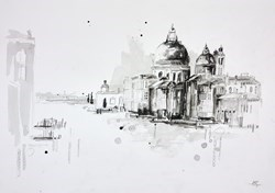 Venice Sketch IV by Anna Gammans -  sized 17x12 inches. Available from Whitewall Galleries